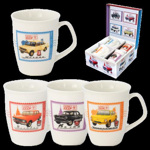 Kaffeebecher Geschenk-Set Auto 4-er 350ml