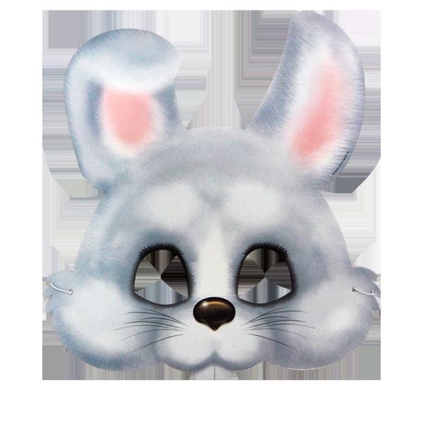 Maske, Hase, 25 x 27 cm, mit Gummiband