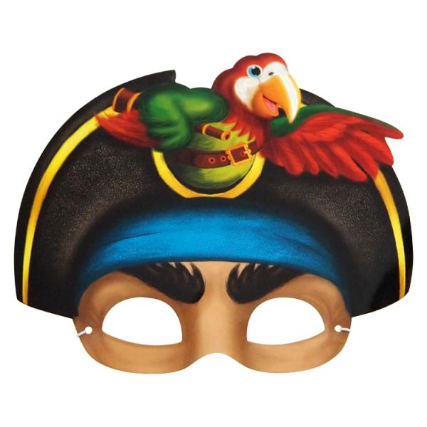 Maske, Pirat, 23 x 16 cm, mit Gummiband