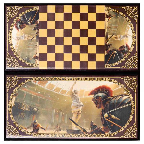 """Backgammonspiel Brettspiel Tischspiel """" Gladiator"""" 60 x 30 cm"""