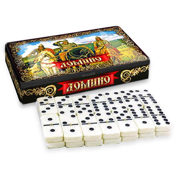 """Dominospiel Tischspiel """"3 Helden"""" in Metalbox"""