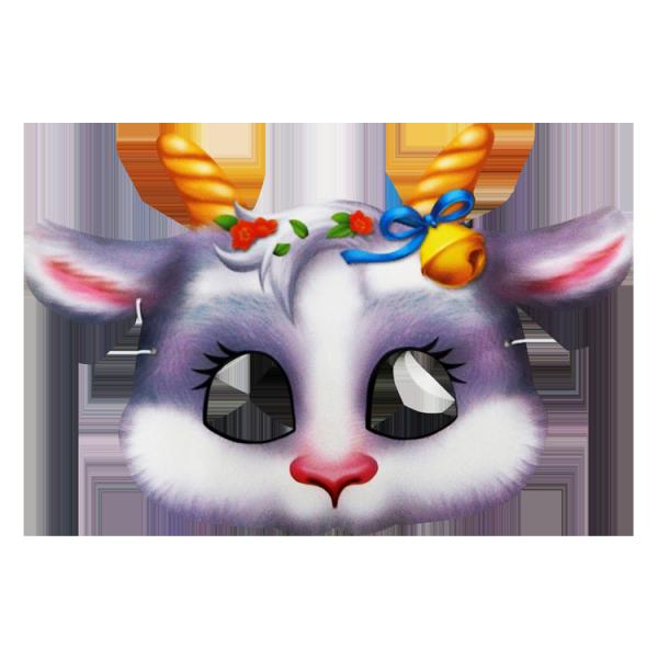 Maske, Ziege, 20 x 16 cm, mit Gummiband