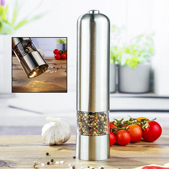 Salz - und Pfeffermühle, elektrisch aus rostfreiem Edelstahl