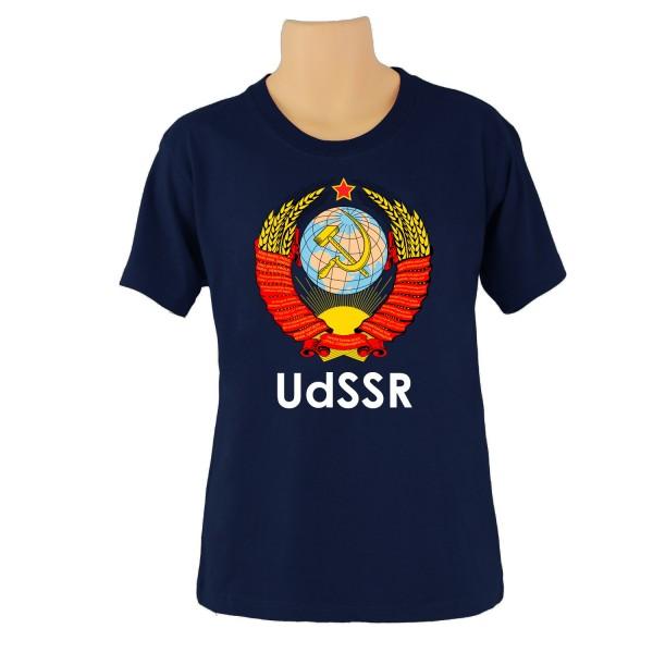 T-Shirt UDSSR Blau kurzarm