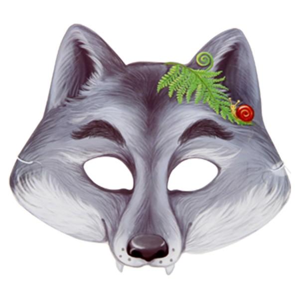 Maske, Wolf, 21,6 x 19,5 cm, mit Gummiband