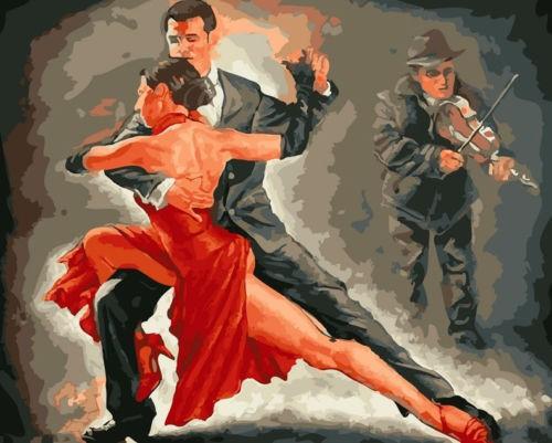 Malen nach Zahlen Tango 40x50 E581