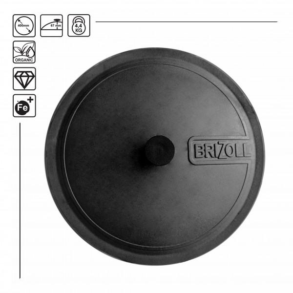 Brizoll Gusseisendeckel Kasandeckel D-40 cm passend für 12/15 L Kasan