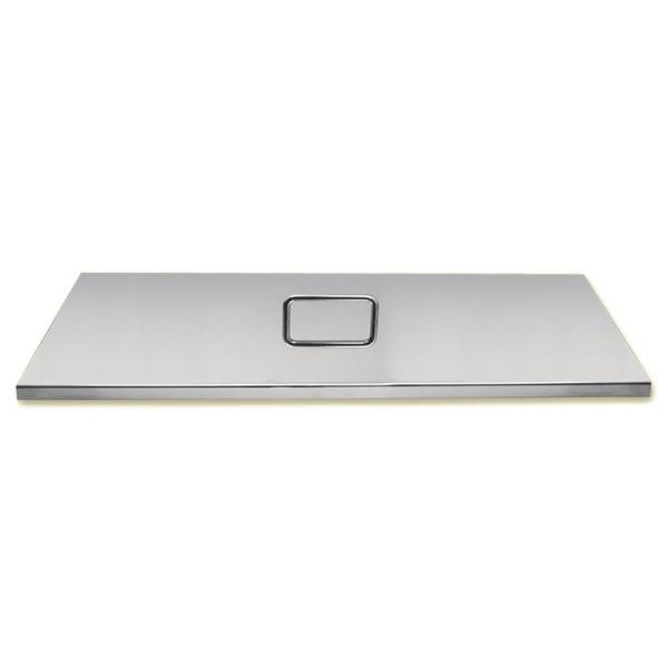 Grill-Deckel, ca 62x31 cm, Edelstahl 0,5 mm dick