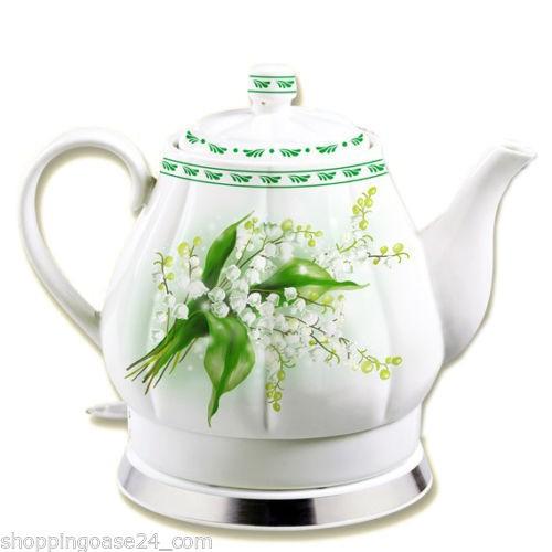 Keramik Wasserkocher Maiglöckchen 1,7 L
