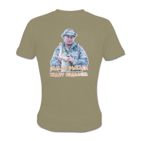 T-Shirt Putin Rybak khaki kurzarm