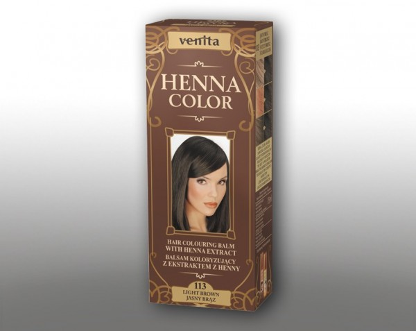 Haarbalsam mit färbendem Effekt auf Henna-Basis, 75 ml, Farbton: Hellbraun