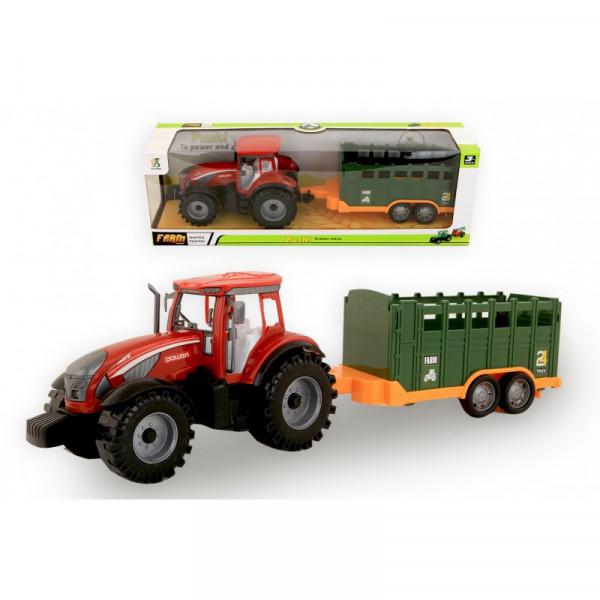 Jonotoys Traktor mit Anhängerreibung 42 cm